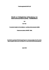 Bild der Titelseite der Publikation: Studie zur biologischen Aufbereitung von Elektroofenschlacke (EOS)