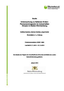 Bild der Titelseite der Publikation: Untersuchung zu seltenen Erden: Permanentmagnete im industriellen Einsatz in Baden-Württemberg