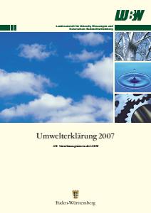 Bild der Titelseite der Publikation: Umwelterklärung 2007