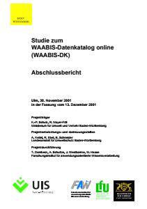 Bild der Titelseite der Publikation: Studie zum WAABIS-Datenkatalog online (WAABIS-DK) Abschlussbericht
