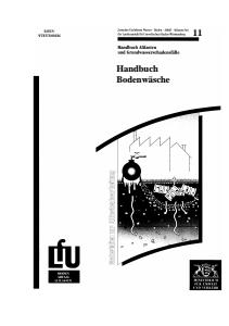 Bild der Titelseite der Publikation: Handbuch Bodenwäsche