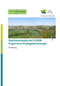 Bild der Titelseite der Publikation: Abschlussevaluation des PLENUM-Programms im Projektgebiet Heckengäu - Kurzfassung