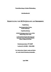 Bild der Titelseite der Publikation: Ermittlung von HCB-Quellen am Oberrhein