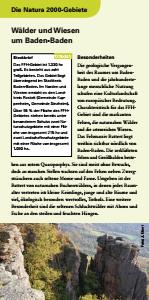 Bild der Titelseite der Publikation: Natura 2000 gemeinsam umsetzen - Wälder und Wiesen um Baden-Baden