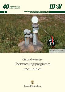 Bild der Titelseite der Publikation: Grundwasserüberwachungsprogramm. Ergebnisse der Beprobung 2014