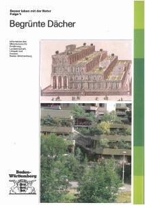 Bild der Titelseite der Publikation: Begrünte Dächer