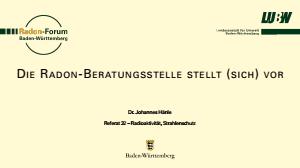 Bild der Titelseite der Publikation: Die Radon-Beratungsstelle stellt (sich) vor
