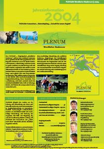 Bild der Titelseite der Publikation: Jahresinformation PLENUM Westlicher Bodensee 2004