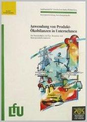Bild der Titelseite der Publikation: Anwendung von Produkt-Ökobilanzen in Unternehmen