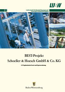 Bild der Titelseite der Publikation: BEST-Projekt Schoeller & Hoesch GmbH & Co.KG