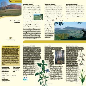 Bild der Titelseite der Publikation: Naturschutzgebiet Heldenberg