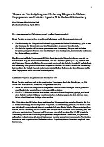 Bild der Titelseite der Publikation: Arbeitspapier: Bürgerschaftliches Engagement und Lokale Agenda 21