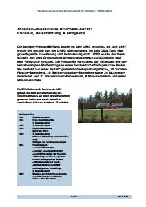 Bild der Titelseite der Publikation: Intensiv-Messstelle Bruchsal-Forst: Chronik
