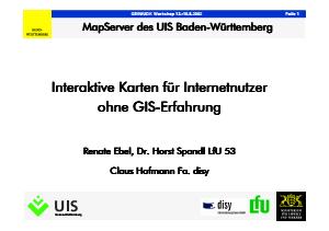 Bild der Titelseite der Publikation: Interaktive Karten für Internetnutzer ohne GIS-Erfahrung
