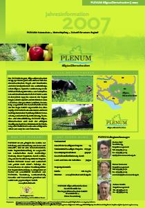 Bild der Titelseite der Publikation: Jahresinformation PLENUM Allgäu-Oberschwaben 2007