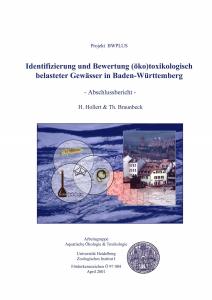 Bild der Titelseite der Publikation: Identifizierung und Bewertung (öko)toxikologisch belasteter Gewässer in Baden-Württemberg