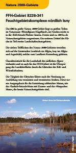 Bild der Titelseite der Publikation: Natura 2000 gemeinsam umsetzen - Feuchtgebietskomplexe nördlich Isny