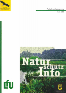 Bild der Titelseite der Publikation: Naturschutz-Info 1998 Heft 3