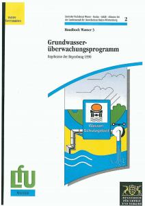 Bild der Titelseite der Publikation: Grundwasserüberwachungsprogramm. Ergebnisse der Beprobung 1996