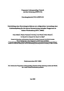 Bild der Titelseite der Publikation: Entwicklung eines Bewertungsverfahrens zur erfolgreichen Anwendung einer Kalzitaufspülung für die interne Restaurierung eutropher Baggerseen in Baden-Württemberg