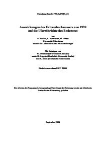 Bild der Titelseite der Publikation: Auswirkungen des Extremhochwassers von 1999 auf die Uferröhrichte des Bodensees