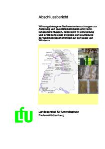 Bild der Titelseite der Publikation: Wirkungsbezogene Sedimentuntersuchungen