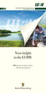 Bild der Titelseite der Publikation: Your insight into the LUBW.