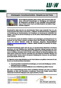 Bild der Titelseite der Publikation: Arbeitspapier: Zukunftswerkstätten