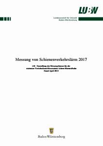 Bild der Titelseite der Publikation: Messung von Schienenverkehrslärm 2017