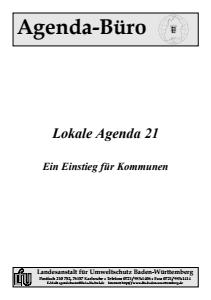 Bild der Titelseite der Publikation: Lokale Agenda 21 - Ein Einstieg für Kommunen