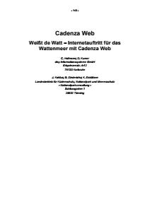 Bild der Titelseite der Publikation: Cadenza Web - Weißt de Watt - Internetauftritt für das Wattenmeer mit Cadenza Web