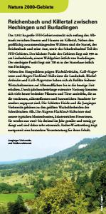 Bild der Titelseite der Publikation: Natura 2000 gemeinsam umsetzen - Reichenbach und Killertal zwischen Hechingen und Burladingen