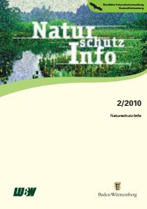 Bild der Titelseite der Publikation: Naturschutz-Info 2010 Heft 2
