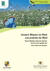 Bild der Titelseite der Publikation: Unsere Wiesen im Ried - Les prairies du Ried