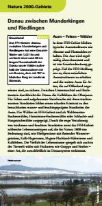 Bild der Titelseite der Publikation: Natura 2000 gemeinsam umsetzen - Donau zwischen Munderkingen und Riedlingen