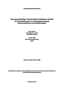 Bild der Titelseite der Publikation: Messung großskaliger Transportpfade im Bodensee als Basis für ein Modellsystem zur Schadstoffausbreitung: Drifterexperimente und Modellvergleich