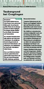 Bild der Titelseite der Publikation: Natura 2000 gemeinsam umsetzen - Taubergrund bei Creglingen