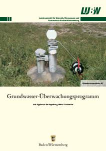 Bild der Titelseite der Publikation: Grundwasserüberwachungsprogramm. Ergebnisse der Beprobung 2006 - Kurzbericht