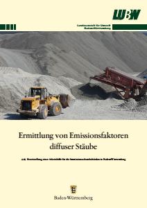 Bild der Titelseite der Publikation: Ermittlung von Emissionsfaktoren diffuser Stäube