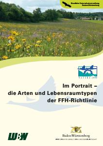 Bild der Titelseite der Publikation: Im Portrait - die Arten und Lebensraumtypen der FFH-Richtlinie