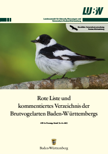 Bild der Titelseite der Publikation: Rote Liste und kommentiertes Verzeichnis der Brutvogelarten Baden-Württembergs