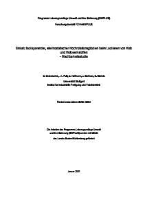 Bild der Titelseite der Publikation: Einsatz lacksparender, elektrostatischer Hochrotationsglocken beim Lackieren von Holz und Holzwerkstoffen - Machbarkeitsstudie