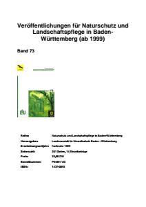 Bild der Titelseite der Publikation: Band 73 - Naturschutz und Landschaftspflege Baden-Württemberg