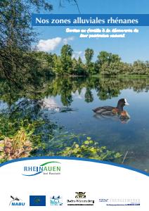 Bild der Titelseite der Publikation: Nos zones alluviales rhénanes