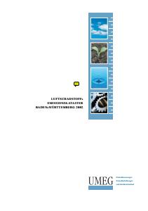 Bild der Titelseite der Publikation: Luftschadstoff-Emissionskataster Baden-Württemberg 2002