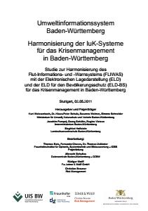 Bild der Titelseite der Publikation: Harmonisierung der IuK-Systeme für das Krisenmanagement in Baden-Württemberg