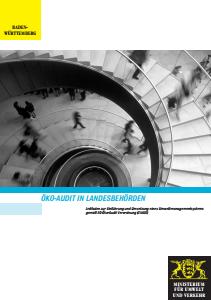 Bild der Titelseite der Publikation: Öko-Audit in Landesbehörden