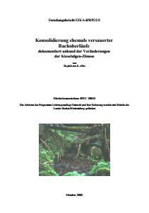 Bild der Titelseite der Publikation: Konsolidierung ehemals versauerter Bachoberläufe dokumentiert anhand der Veränderungen der Kieselalgen-Zönose