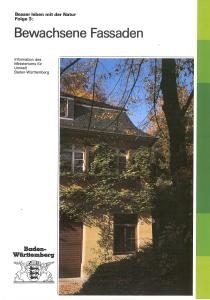 Bild der Titelseite der Publikation: Bewachsene Fassaden