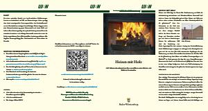 Bild der Titelseite der Publikation: Heizen mit Holz
